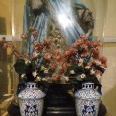 Antigüedades: RAMOS FLORES COMPOSICION FLORAL FLORES PARA JARRAS CRATERAS CAPILLAS VIRGEN NIÑO JESUS SEMANA SANTA. Lote 191735433