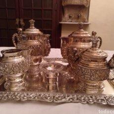 Antigüedades: JUEGO COMPLETO DE CAFETERA Y TETERA. Lote 191743446