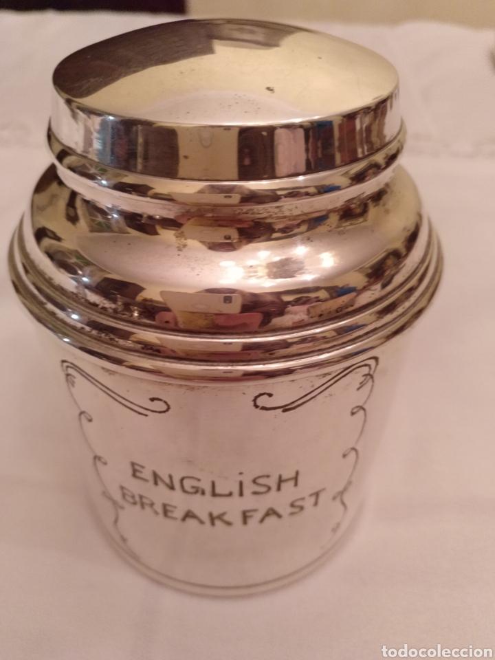 Antigüedades: Bote de alpaca para el té English Breakfast - Foto 2 - 191758782