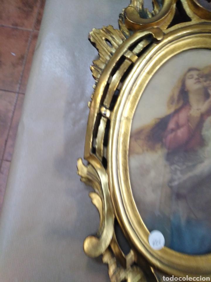 MARCO MUY BONICO, ANTIGUO PAN DE ORO CORNUCOPIA (Antigüedades - Muebles Antiguos - Cornucopias Antiguas)