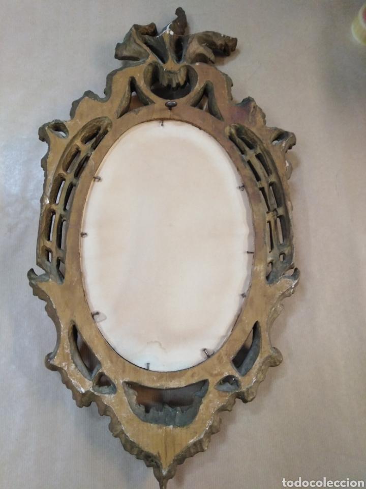 Antigüedades: Marco muy bonico, antiguo pan de oro CORNUCOPIA - Foto 3 - 191776021