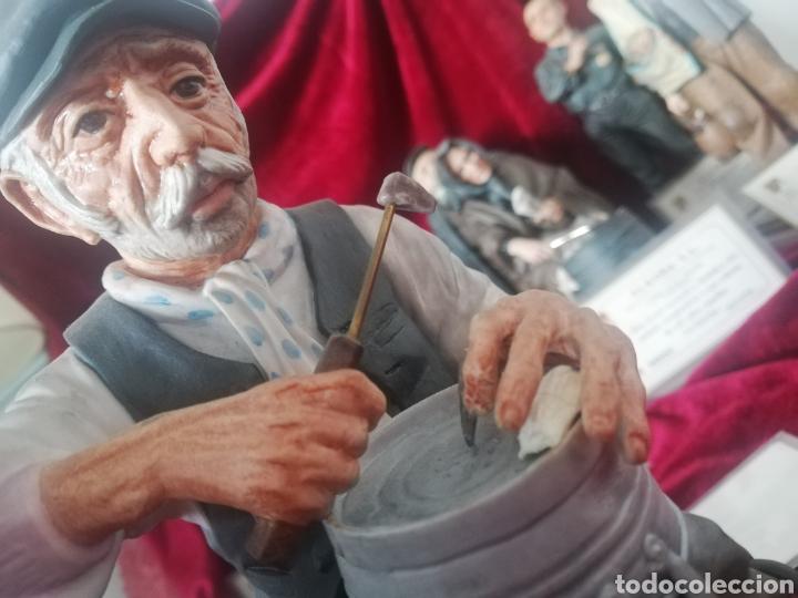 Antigüedades: Colección 9 figuras hiperrealista porcelana algora con certificado - Foto 6 - 191799507