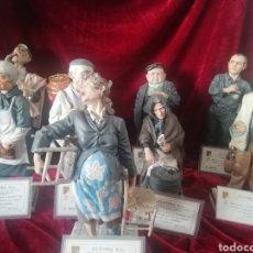 Antigüedades: COLECCIÓN 9 FIGURAS HIPERREALISTA PORCELANA ALGORA CON CERTIFICADO. Lote 191799507