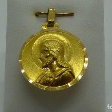 Antigüedades: MEDALLA ESCAPULARIO EN ORO DE 18 KLTS.(750MM). Lote 191800751