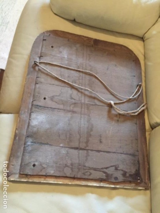 Antigüedades: Antiguo espejo Luis Felipe decorado con pan de oro de época madera maciza sin restaurar alguna falta - Foto 11 - 191805770