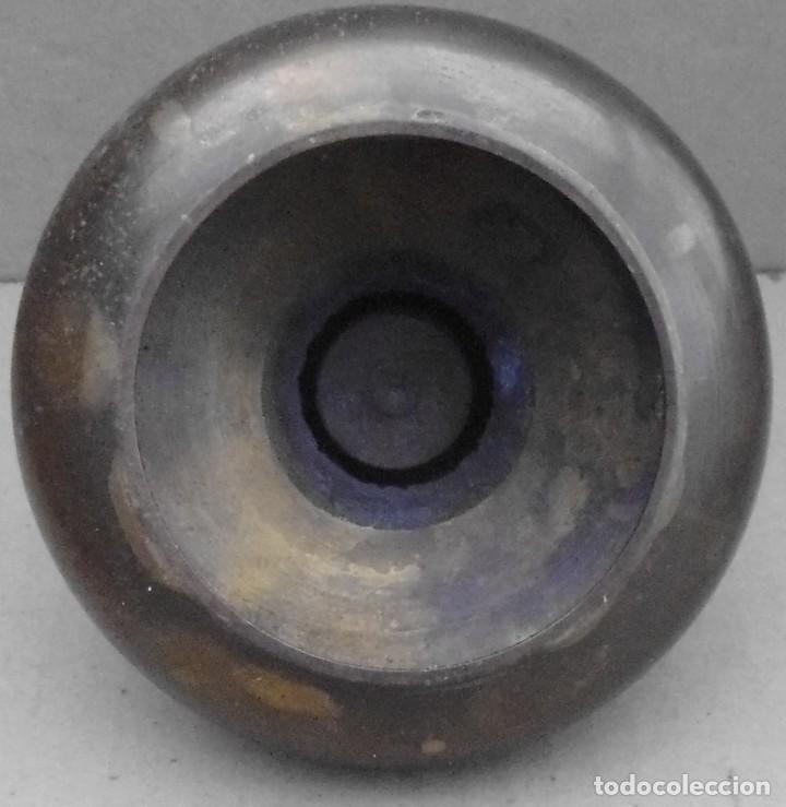 Antigüedades: PORTA VELAS DE METAL PINTADO A MANO , QUE PUEDES RETIRAR - Foto 2 - 191808226
