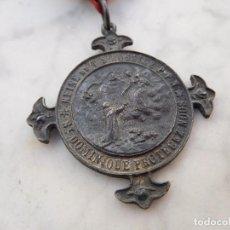 Antigüedades: MEDALLA ANTIGUA PEREGRINACIÓN DEL ROSARIO. Lote 191810401