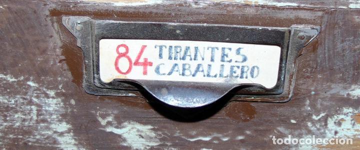 Antigüedades: antiguo mueble de merceria, restaurado, ideal consola,32 cajones decorativo y funcional - Foto 4 - 191819333