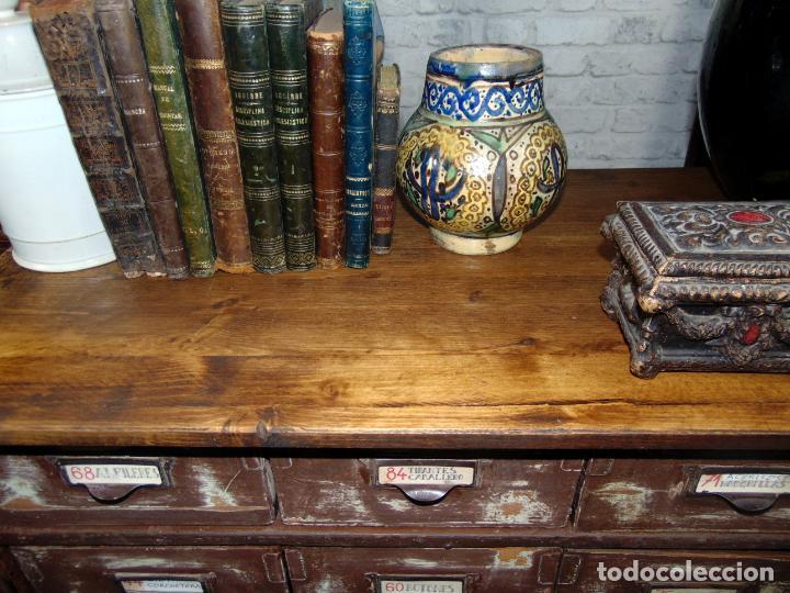 Antigüedades: antiguo mueble de merceria, restaurado, ideal consola,32 cajones decorativo y funcional - Foto 6 - 191819333
