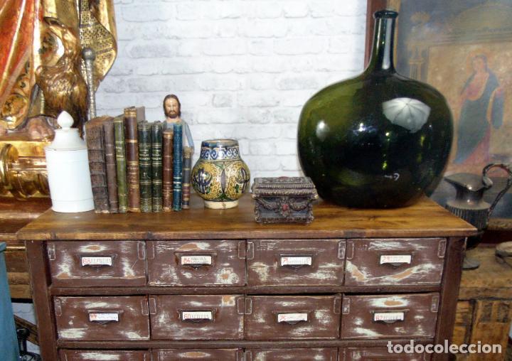 Antigüedades: antiguo mueble de merceria, restaurado, ideal consola,32 cajones decorativo y funcional - Foto 9 - 191819333