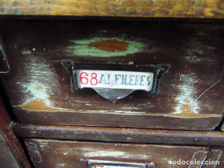 Antigüedades: antiguo mueble de merceria, restaurado, ideal consola,32 cajones decorativo y funcional - Foto 12 - 191819333