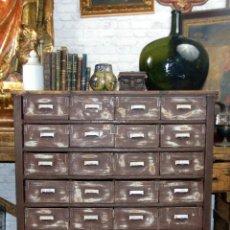 Antigüedades: ANTIGUO MUEBLE DE MERCERIA, RESTAURADO, IDEAL CONSOLA,32 CAJONES DECORATIVO Y FUNCIONAL. Lote 191819333