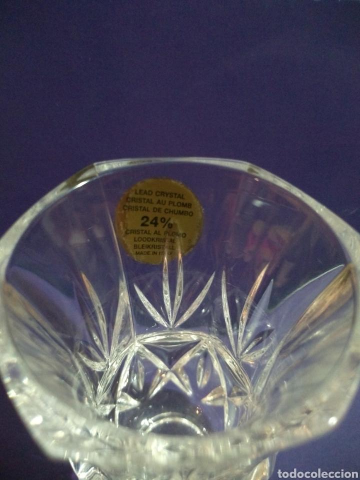 Antigüedades: Violetero Cristal al Plomo Tallado RCR Royal Crytal Rock 24% Italia - Foto 2 - 191823142