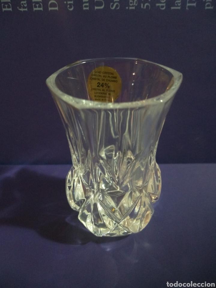 Antigüedades: Violetero Cristal al Plomo Tallado RCR Royal Crytal Rock 24% Italia - Foto 3 - 191823142