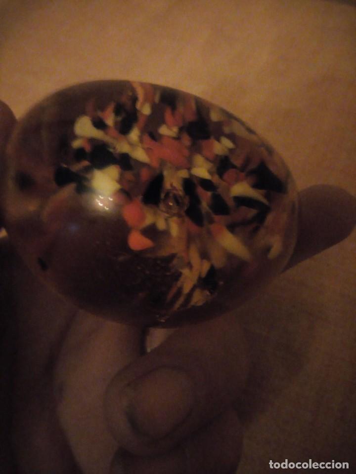Antigüedades: Precioso pisa papeles de cristal de murano precioso colores. - Foto 5 - 191833958