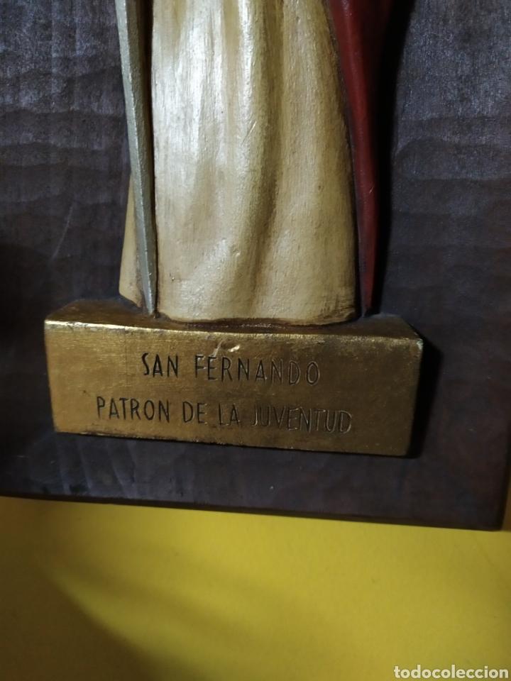 Antigüedades: Tabla tallada san fernando - Foto 2 - 191837933