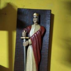 Antigüedades: TABLA TALLADA SAN FERNANDO. Lote 191837933