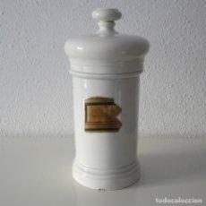 Antigüedades: ANTIGUO ALBARELO SIGLO XIX DE FARMACIA 28 CM CON ETIQUETA MANUSCRITA ORIGINAL. Lote 191847841