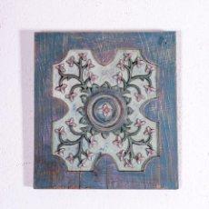Antigüedades: TALLA DE MADERA FLORAL ANTIGUA. Lote 191871021