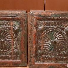 Antigüedades: ANTIGUAS PUERTAS COMO LAS FOTOS ,DESCONOZCO ÉPOCA MUY DECORATIVAS ,MIRAR FOTOS. Lote 191877840
