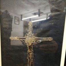 Antigüedades: CRISTO DEL ROSARIO. ZAFAR. BADAJOZ. CHAPA DE PLATA 24X15CM LA CRUZ. Lote 191882132