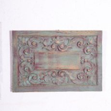 Antigüedades: TALLA FLORAL DE MADERA. Lote 191882975