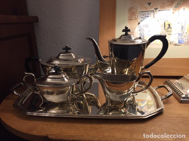 Antigüedades: Elegante juego de café plateado Alpadur. - Foto 2 - 191893565