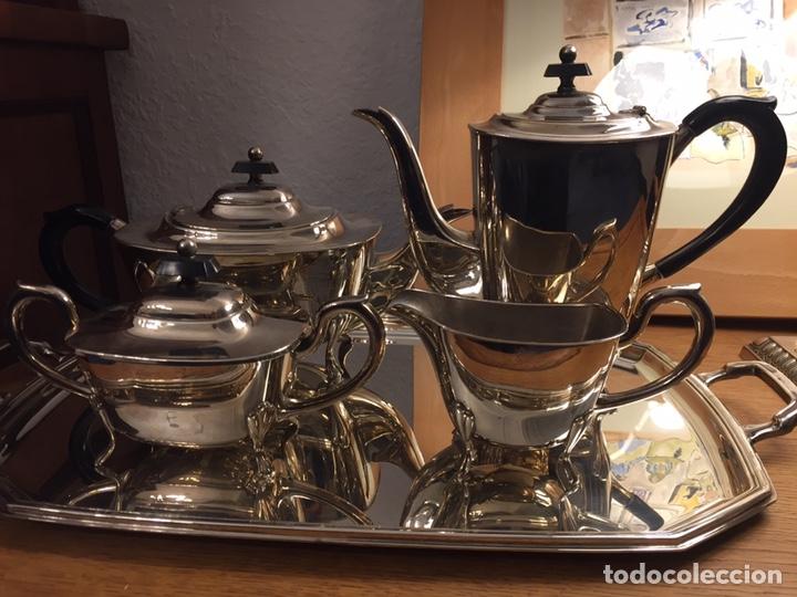 Antigüedades: Elegante juego de café plateado Alpadur. - Foto 3 - 191893565