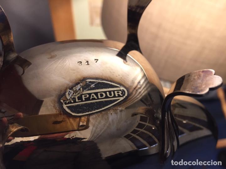 Antigüedades: Elegante juego de café plateado Alpadur. - Foto 4 - 191893565
