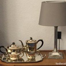Antigüedades: ELEGANTE JUEGO DE CAFÉ PLATEADO ALPADUR.. Lote 191893565