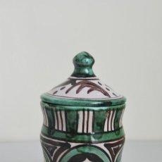Antigüedades: BOTE DE COCINA - CERÁMICA PUNTER, TERUEL - PIMENTÓN. Lote 191896797
