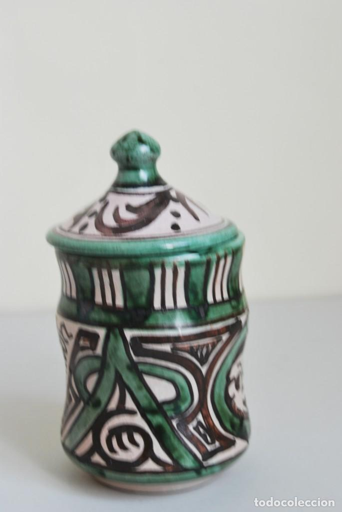 Antigüedades: BOTE DE COCINA - CERÁMICA PUNTER, TERUEL - PIMENTÓN - Foto 2 - 191896797