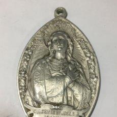 Antigüedades: MEDALLA RELIGIOSA DE ALUMINIO PARA CINTA COLEGIO DE SAN JOSÉ VALENCIA. Lote 191926610