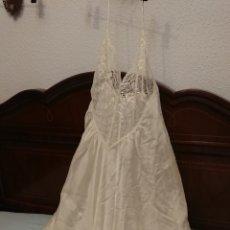 Antiquités: PRECIOSO CAMISON DE NINA RICCI, SEDA Y ENCAJE. Lote 191938787