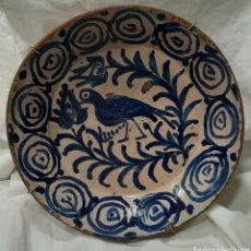 Antiquités: CUENCO CERAMICA FAJALAUZA S.XVIII CON GRAPAS. MIDE 29 X 8 CM.. Lote 191968127