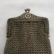 Antigüedades: JUEGO 4 MONEDEROS DE MAYA ( ALPACA Ó PLATA). Lote 191985645