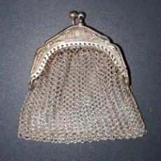 Antigüedades: ANTIGUO MONEDERO EN PLATA DE LEY. Lote 191990028