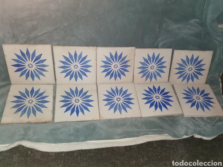 10 AZULEJOS GRANADINOS. PRINCIPIOS DE SIGLO XX (Antigüedades - Porcelanas y Cerámicas - Azulejos)