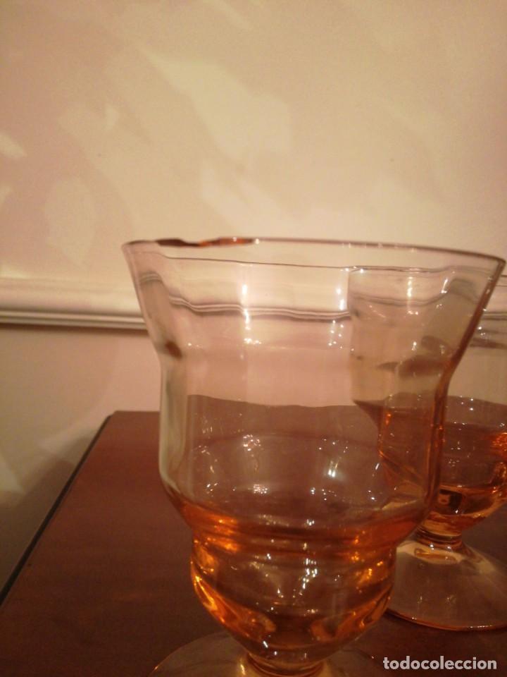 Antigüedades: Antigua cristalería de fino cristal forma campaniforme - Foto 5 - 210748616