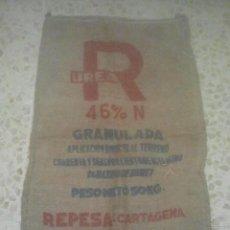 Antigüedades: SACA DE ABONO - UREA GRANULADA - REPESA, CARTAGENA - FERTILIZANTE - ANTIGUO SACO DE ARPILLERA. Lote 192002173