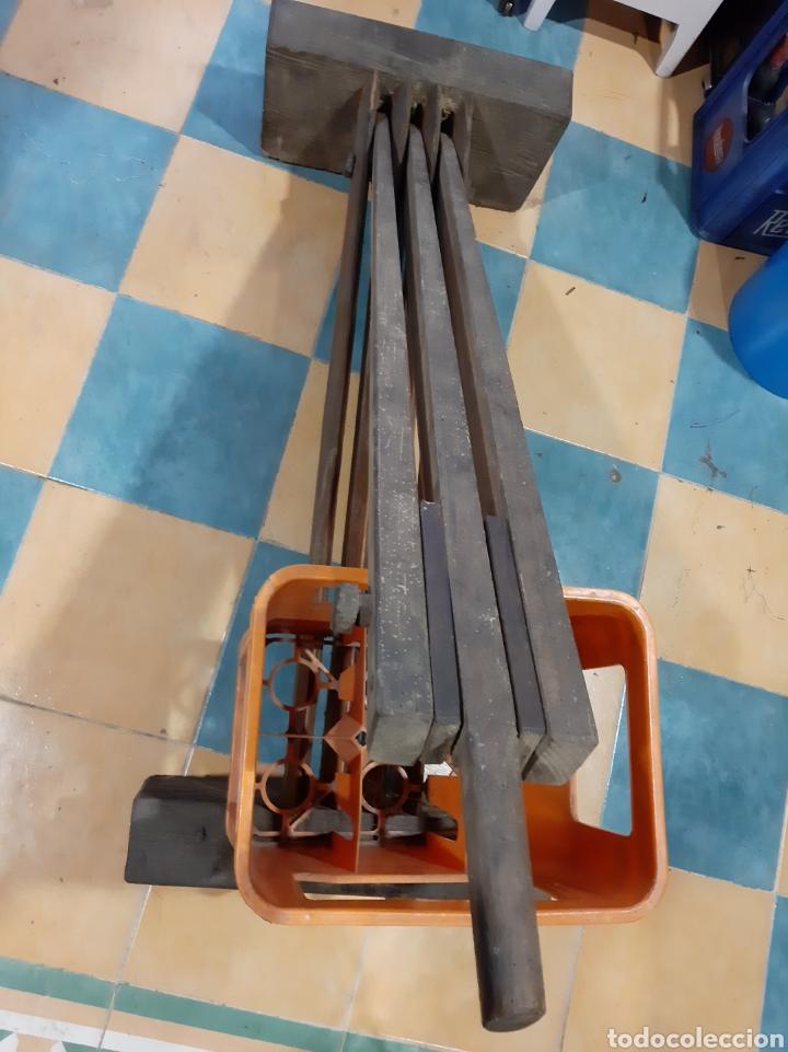 Antigüedades: 1940 Máquina para preparar el lino enografia Gallega 1900 pieza museo - Foto 3 - 166745686