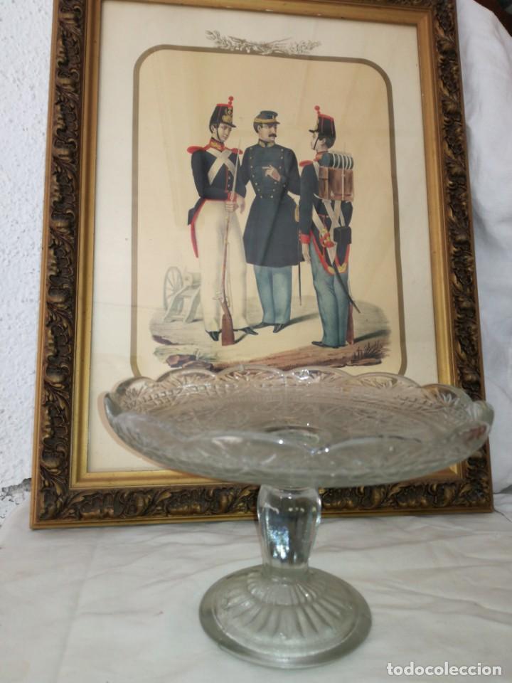 Antigüedades: Antiguo frutero cristal - Foto 2 - 192049758