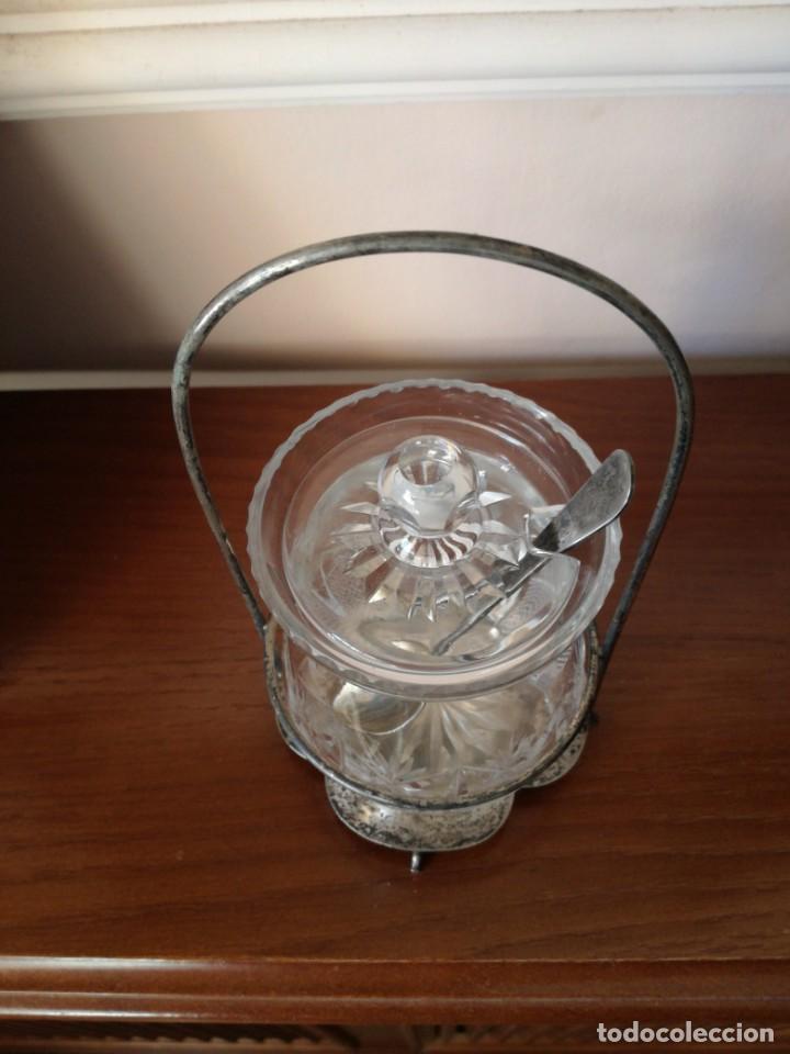 Antigüedades: Antiguo azucarero cristal tallado - Foto 2 - 192055877