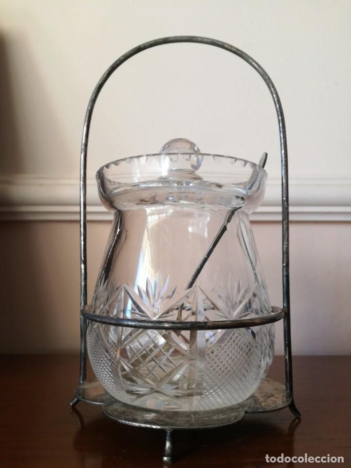 Antigüedades: Antiguo azucarero cristal tallado - Foto 3 - 192055877