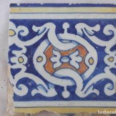Antigüedades: AZULEJO ANTIGUO DE TALAVERA DE LA REINA / TOLEDO / BARROCO - FINAL SIGLO XVIII.. Lote 192080805