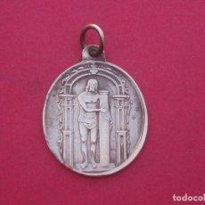 Antigüedades: MEDALLA RELIGIOSA EN PLATA DE Nº SEÑOR JESUCRISTO DE VIGUERA. LA RIOJA.. Lote 192098262