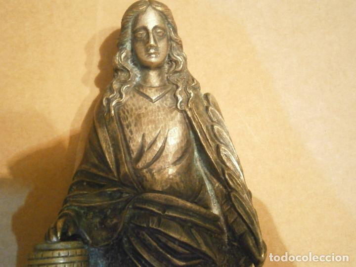 Antigüedades: GRAN FIGURA RELIGIOSA¡¡DE METAL GRAN TAMAÑO ¡¡UNICA EN TC¡¡¡ - Foto 2 - 192100022