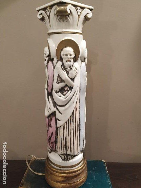 Antigüedades: LAMPARA LOS CUATRO EVANGELISTAS MANISES SANTOS ÚNICA COLECCISTAS - Foto 4 - 192108815