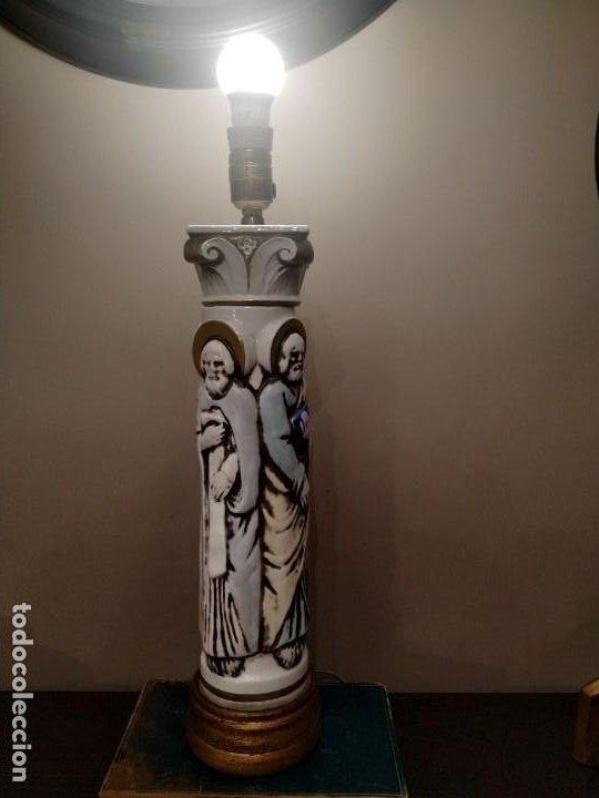 Antigüedades: LAMPARA LOS CUATRO EVANGELISTAS MANISES SANTOS ÚNICA COLECCISTAS - Foto 6 - 192108815