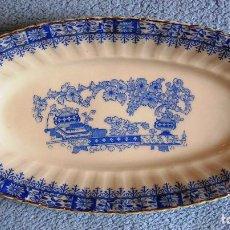 Antigüedades: FUENTE PORCELANA SANTA CLARA, CHINA BLAU. DE 25 CMS DE LARGO.. Lote 192142855